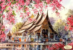 У храма Будды. Размер - 35 х 24 см.
