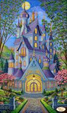Волшебный замок.Весна. Размер - 30 х 50 см.