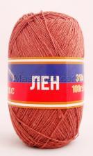 Пряжа Лён. Цвет 121 (коричневый)