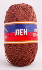 Пряжа Лён. Цвет 113 (какао)