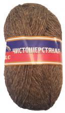 Пряжа Чистошерстяная. Цвет 119 (св.коричневый)