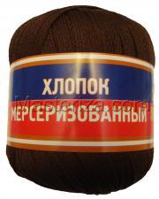 Пряжа Хлопок мерсеризованный. Цвет 063 (шоколад)