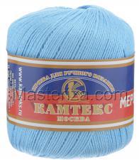 Пряжа Хлопок мерсеризованный. Цвет 015 (голубой)
