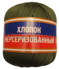 Пряжа Хлопок мерсеризованный. Цвет 038 (оливковый)