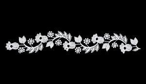 Лейсы пришивные,цв.белый,32,2х5 см,1 шт.