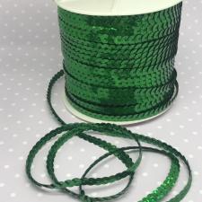 Пайетки на нитях,6 мм,цв.зелёный голографик (№8)