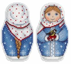 "ТМ Жар-птица | Набор для вышивания на пластиковой канве ""Зимушка-зима"". Размер - 7 х 11 см."