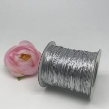 Шнур декоративный круглый,1 мм,серебро,70 ярдов(64 м)