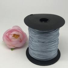 Шнур декоративный плетёный с люрексом,круглый,2мм,голубой/серебро (№10),100 ярдов (91,44 м)