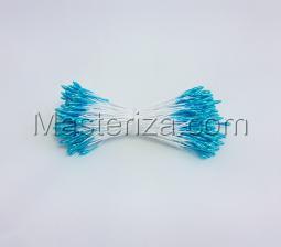 Тычинки тонкие,2 мм,100 шт,цв.ярко-голубой