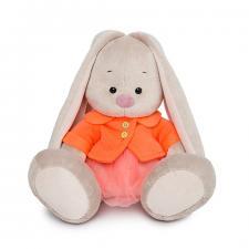Зайка Ми в оранжевой куртке и юбке, мягкая игрушка BudiBasa