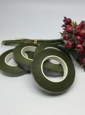 Флористическая тейп-лента. Цвет (тёмно-оливковый)