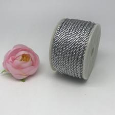 Шнур витой декоративный,3 мм,цвет серебро