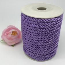 Шнур витой декоративный,5 мм,цвет сиреневый (№1)