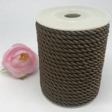 Шнур витой декоративный,5 мм,цвет коричневый (№2)