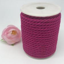 Шнур витой декоративный,5 мм,цвет малиновый (№3)