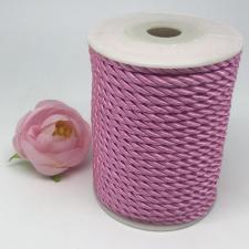 Шнур витой декоративный,5 мм,цвет розовый (№5)