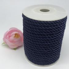 Шнур витой декоративный,5 мм,цвет тёмно-синий (№8)