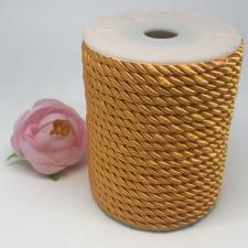Шнур витой декоративный,5 мм,цвет жёлтый (№15)