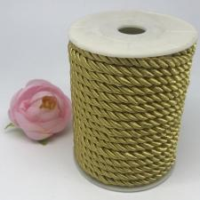 Шнур витой декоративный,5 мм,цвет песочный (№16)