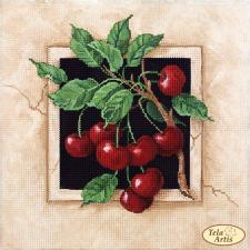 Спелые вишни. Размер - 24 х 24 см.