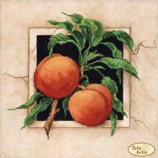 Спелые персики. Размер - 24 х 24 см.