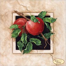 Спелые яблоки. Размер - 24 х 24 см.