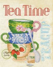 Время пить чай! Размер - 26 х 33 см.