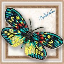 """Набор для вышивки бисером на прозрачной основе """"Бабочка """"Erasmia Pulehera"""""""""""