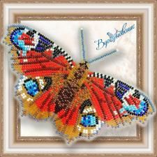 """Набор для вышивки бисером на прозрачной основе """"Бабочка """"Павлиний Глаз Дневной"""""""""""