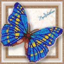 """Набор для вышивки бисером на прозрачной основе """"Бабочка """"Морфо Киприда"""""""""""