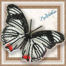 """Набор для вышивки бисером на прозрачной основе """"Бабочка """"Hypolimnas usambara"""""""""""