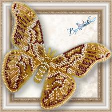 """Набор для вышивки бисером на прозрачной основе """"Бабочка """"Айлантовый шелкопряд"""""""""""