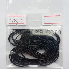 Канитель мягкая,1 мм,цвет №778 чёрный