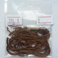 Канитель мягкая,1 мм,цвет №776 коричнево-золотой