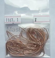 Канитель мягкая,1 мм,цвет №1187 розовое золото