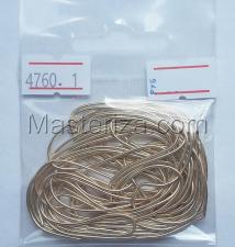 Канитель мягкая,1 мм,цвет №4760 кремовая дымка