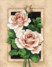 Винтажные розы. Размер - 24 х 34 см.