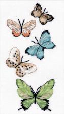 "Овен | Набор на водорастворимой канве ""Бабочки"". Размер - 8 х 17 см."