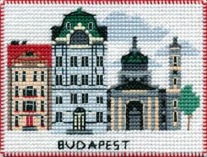 """Набор-магнит для вышивания на пластиковой канве """"Столицы мира.Будапешт"""""""