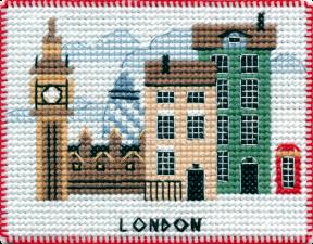 """Набор-магнит для вышивания на пластиковой канве """"Столицы мира.Лондон"""""""