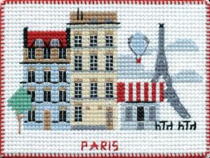 """Набор-магнит для вышивания на пластиковой канве """"Столицы мира.Париж"""""""
