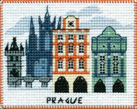 """Набор-магнит для вышивания на пластиковой канве """"Столицы мира.Прага"""""""