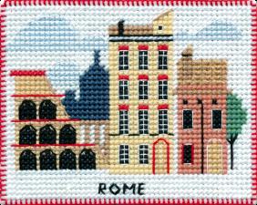 """Набор-магнит для вышивания на пластиковой канве """"Столицы мира.Рим"""""""