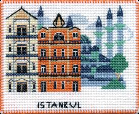 """Набор-магнит для вышивания на пластиковой канве """"Столицы мира.Стамбул"""""""