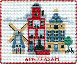 """Набор-магнит для вышивания на пластиковой канве """"Столицы мира.Амстердам"""""""