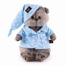 Кот Басик в голубой пижаме, мягкая игрушка BudiBasa