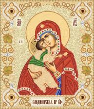 Владимирская икона Божией Матери. Размер - 26 х 30 см.