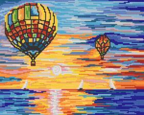 Воздушные шары. Размер - 33 х 26 см.