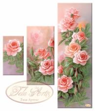 Розовый сад (триптих). Размер - 65 х 75 см.